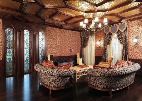 Какие шторы использовать в восточном стиле интерьера?