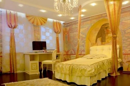 Подбираем шторы для интерьера в египетском стиле