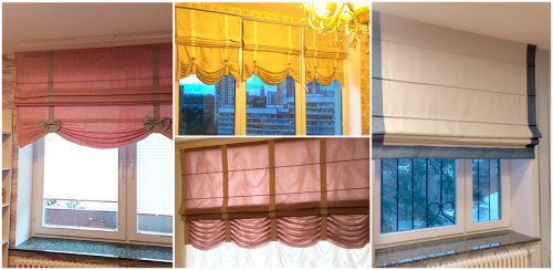 Как стирать рулонные и римские шторы?