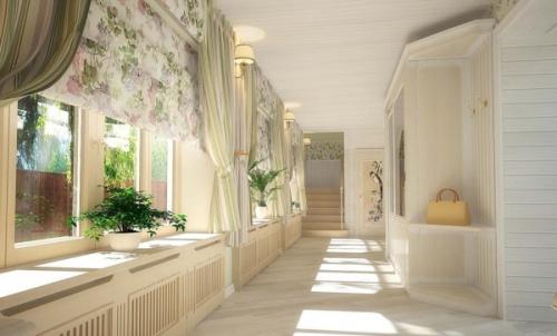 Шторы для коридора в частном доме