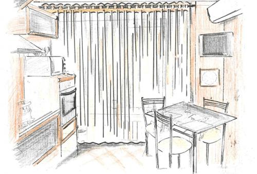Идеи штор для маленькой кухни