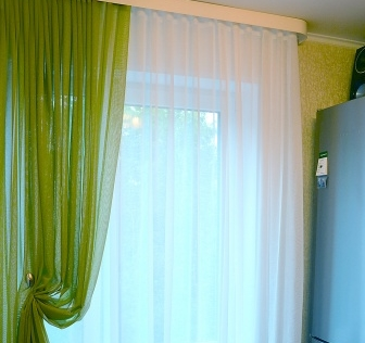 Наши работы: легкие шторы в современном интерьере