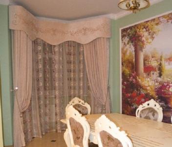 Реализованный дизайн-проект по оформлению шторами частного дома в деревне Поздняково