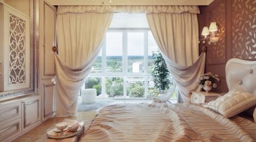 Идеальные шторы в спальню: несколько идей