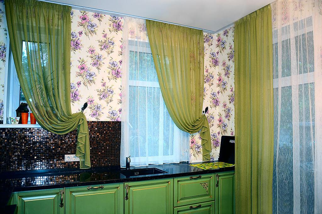 Дизайн штор своими руками для кухни 421